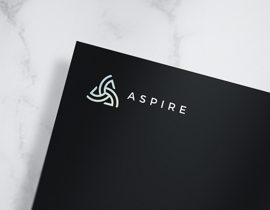 ASPIRE corporate logo design mockup