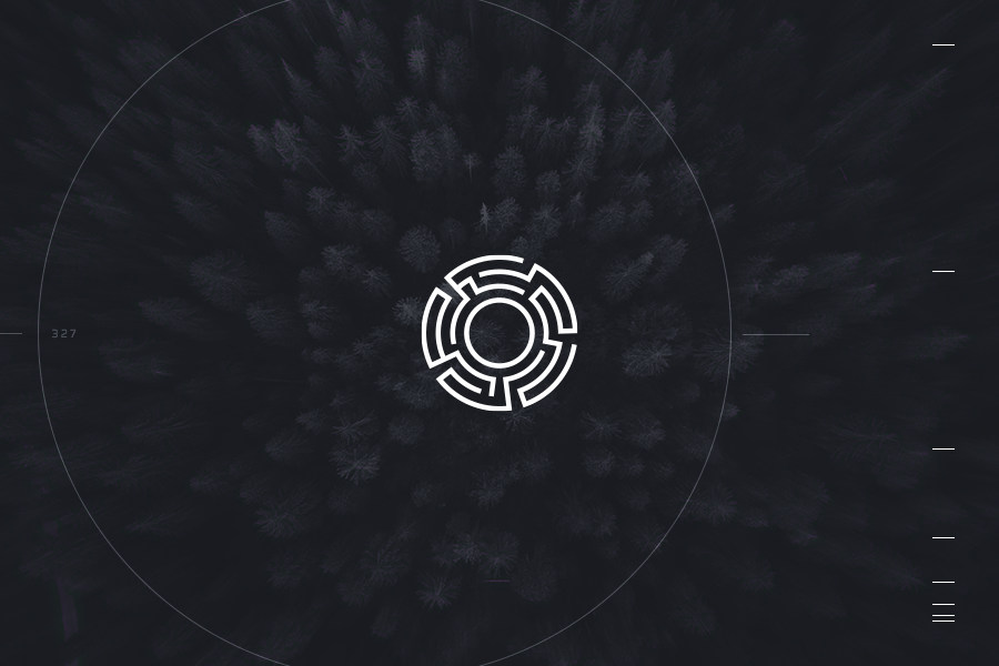 Exa Iris industrial tech logo design machine vision autopilot mockup