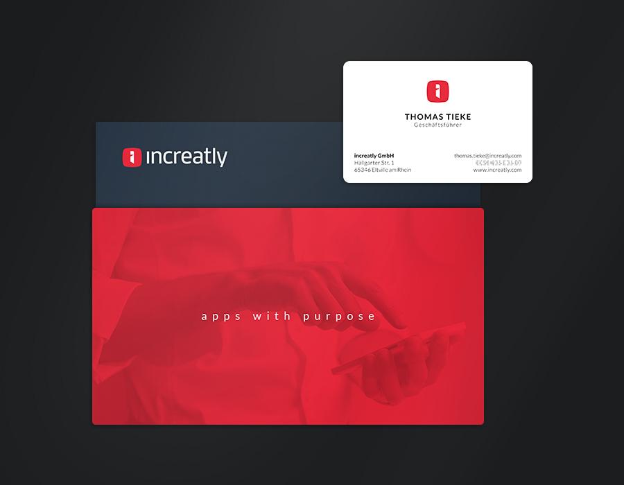 increatly corporate logo design business card mockup
