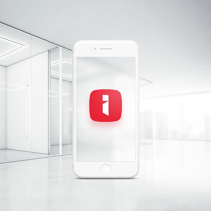 increatly logo design smartphone corporate office mockup