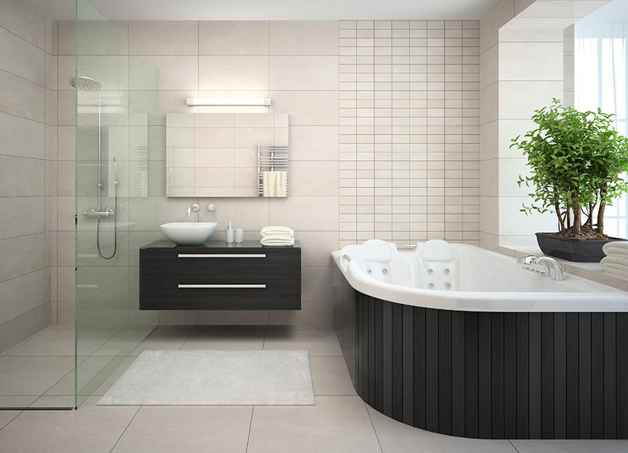 Karlson bespoke industrial wordmark bathroom scene