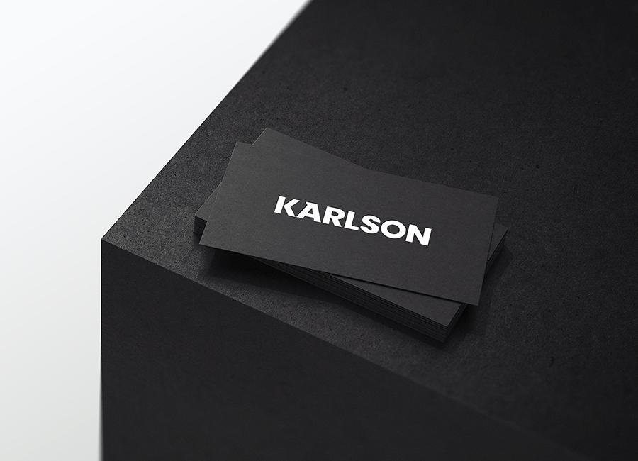 Karlson bespoke industrial wordmark mockup