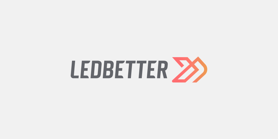 Ledbetter fitness athleisure apparel logo design on light background