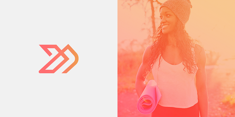 Ledbetter fitness athleisure apparel logo design options