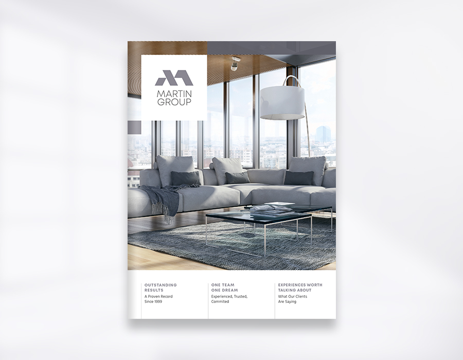 Martin Group realty corporate brochure cover mockup