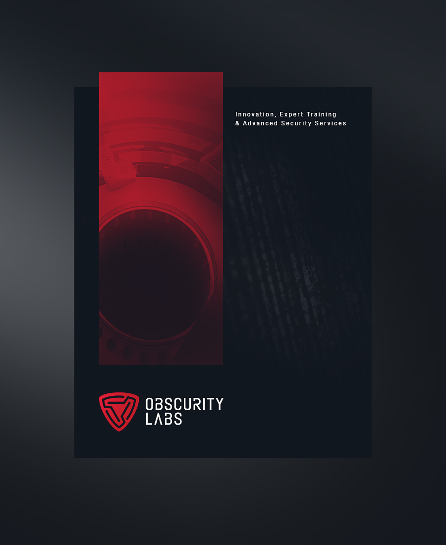 Obscurity Labs cybersecurity logo design abstract cover mockup