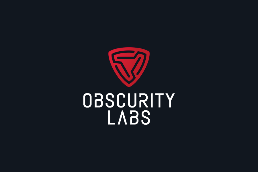 Obscurity Labs cybersecurity logo design on dark background