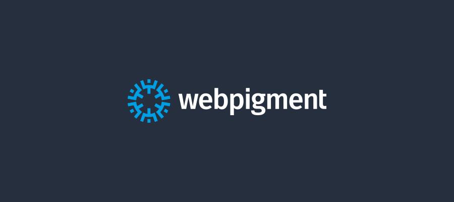 Webpigment wordpress developer logo design on dark background