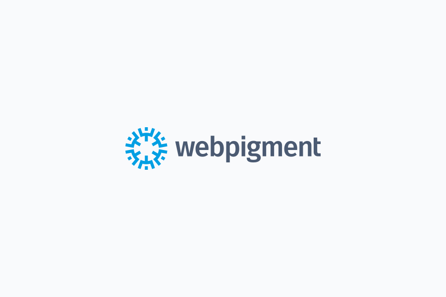 Webpigment wordpress developer logo design on light background