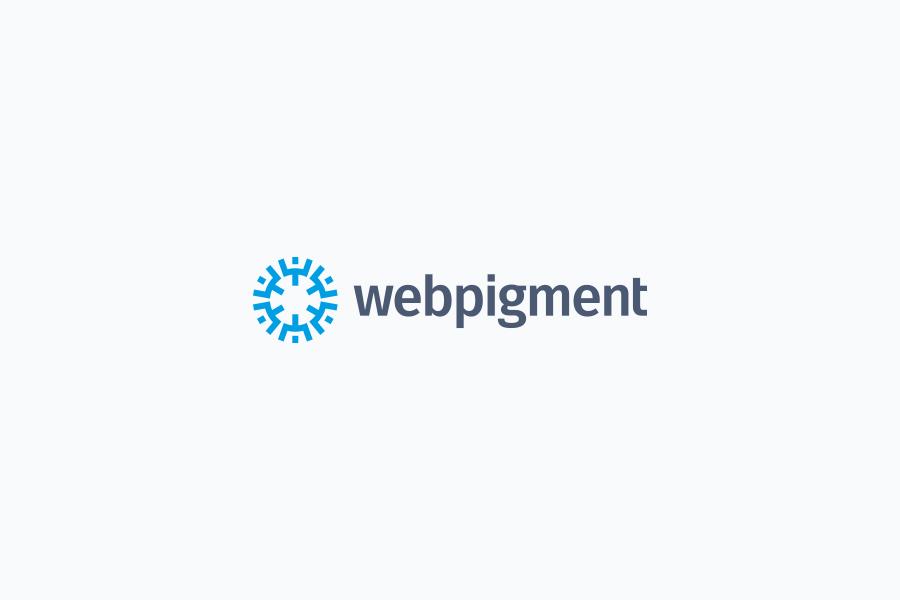 Webpigment wordpress developer logo design on light background