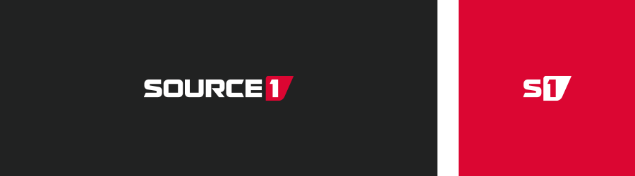 Source1 logo design versions for inverse backgrounds